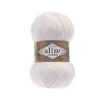 Пряжа  Alize Alpaca RoyaL 55 белый (Альпака Роял)