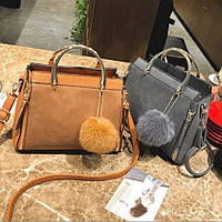 Женская сумка с брелком 0745/1 (ДМ), фото 1