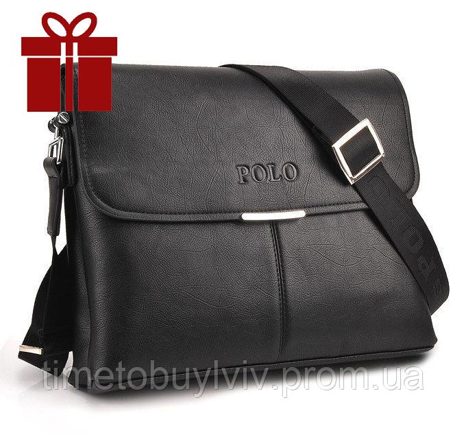 Кожаная мужская сумка портфель Polo Prime А4
