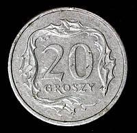 Монета Польши 20 грош 1999 г.