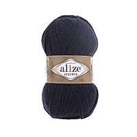 Пряжа  Alize Alpaca RoyaL 58 темно-синий (Альпака Роял)