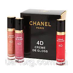 Блеск для губ Chanel Rouge Coco Shine 4D Creme de Gloss (Палитра В)
