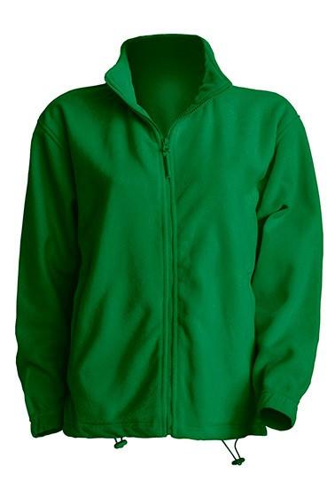 Мужская флисовая куртка  зеленого цвета