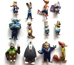 Игровой набор фигурок Зоотрополис/Зверополис (12 штук в пакете)