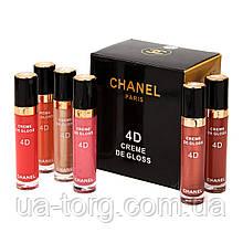 Блеск для губ Chanel Rouge Coco Shine 4D Creme de Gloss (Палитра А)