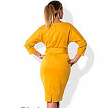 Красивое платье миди горчичного цвета размеры от XL ПБ-726, фото 2
