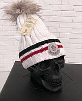 Шапка Moncler реплика мужская женская теплая зимняя димесезонная брендовая копия
