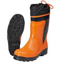 Защитные резиновые сапоги ECONOMY со шнуровкой халявок и светоотражающими полосками