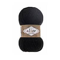 Пряжа  Alize Alpaca RoyaL 60 черный (Альпака Роял)