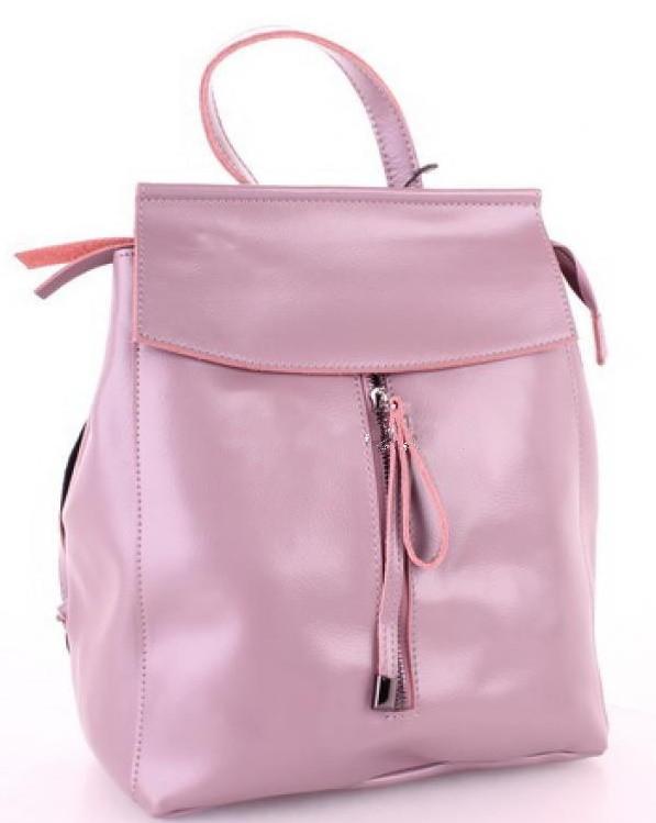 b1f43e5a95c3 Женский кожаный рюкзак 10144 Pink кожаные женские рюкзаки недорого купить - Интернет  магазин