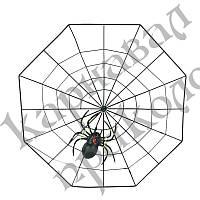 Декор Паутина с пауком (пластик)