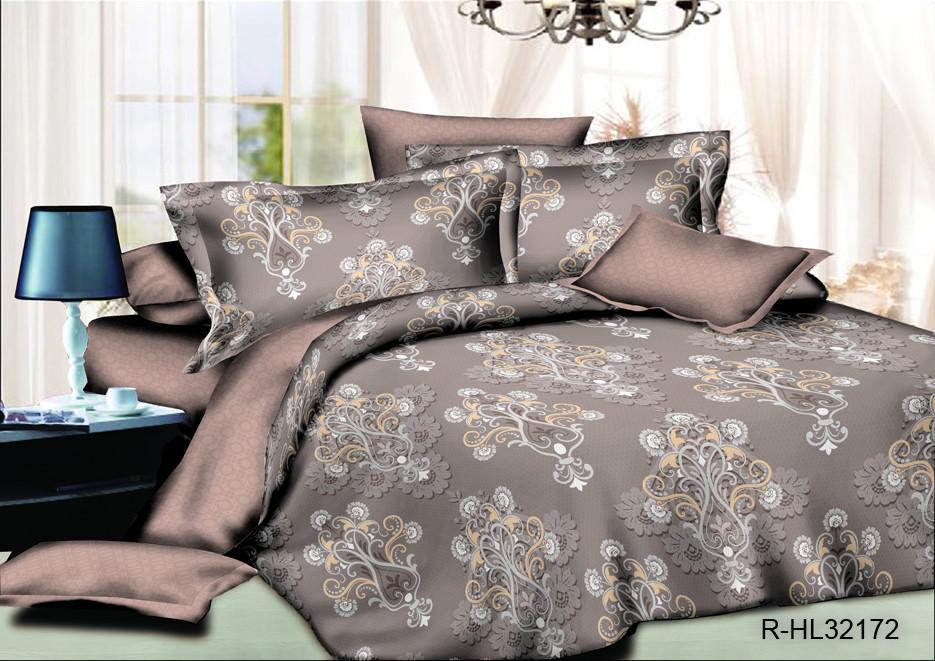 Двуспальный комплект 180*220 с евро простыней 220*240 из ранфорса Королевский шарм