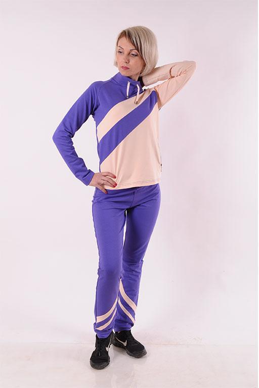 Женский спортивный костюм  фиолетовый Stylish fashion  размеры 40-46