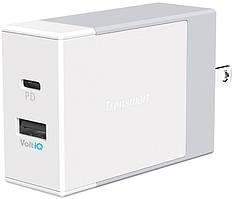 Сетевое зарядное устройство Tronsmart W2DC USB Power Delivery Wall Charger White