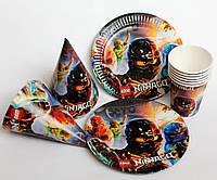 Набор одноразовой посуды Ниндзяго на 6 человек