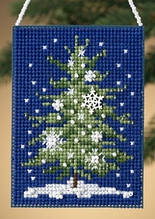 Набор для вышивки крестом MillHill Snowflake Tree