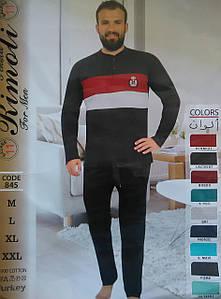 Мужская пижама с брюками интерлок