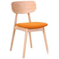 Обеденный стул Рикотта бук беленый, TM AMF Обеденный стул Рикотта бук беленый, TM AMF/оранж