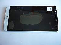 Дисплей для LG D855 G3 + touchscreen, белый, с передней панелью, оригинал (Китай)