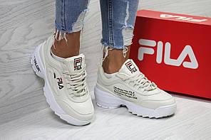 Кроссовки FILA,женские бежевые кроссовки. ТОП качество!!! Реплика