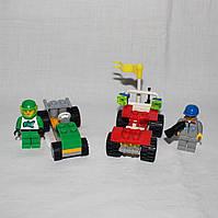 Конструктор Brick - пляжный джип и гонка, 2 минифигурки