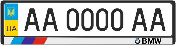 Рамка под номерные знаки белая BMW (рамка номера)  , фото 2