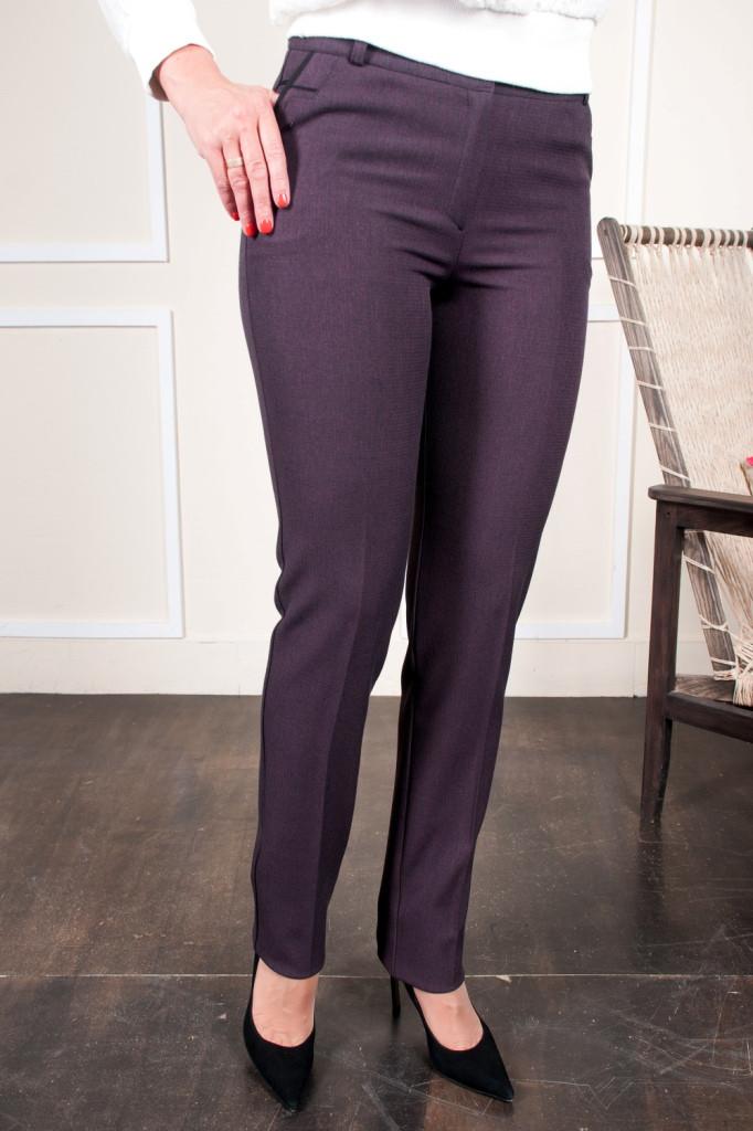 Женские брюки Жозефина темно фиолетовая