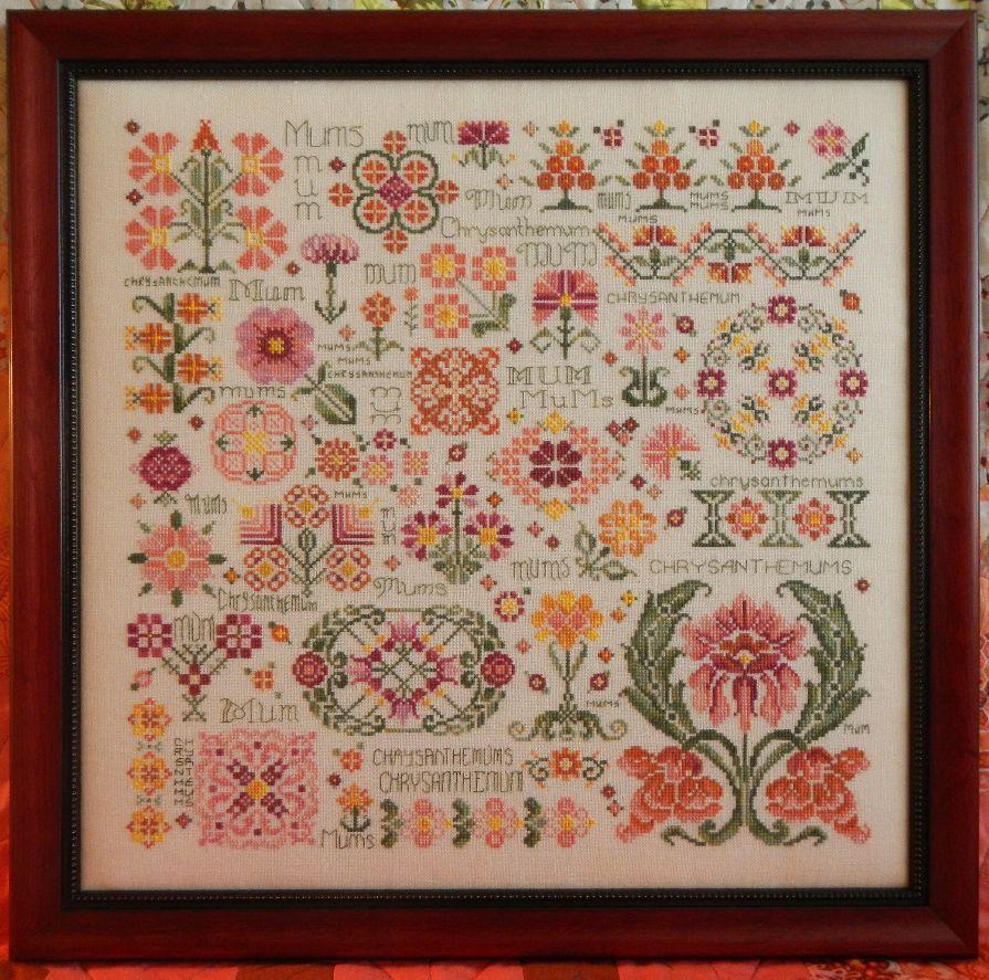 Схема для вышивки крестом Rosewood Manor Dreaming of Mums