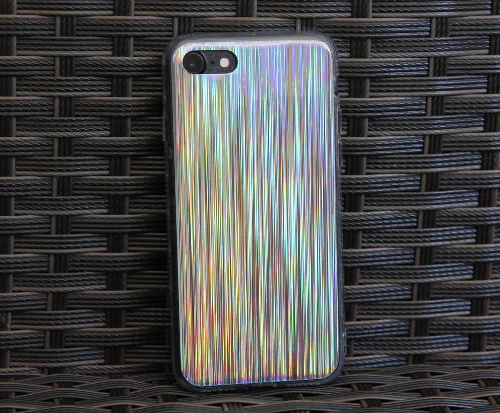 Силиконовый лазерный чехол для Apple iPhone 7/8