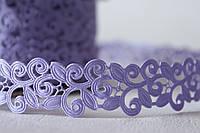 Кружевная лента светло-фиолетового, сиреневого цвета ширина 2 см, фото 1