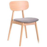 Обеденный стул Рикотта бук беленый, TM AMF Обеденный стул Рикотта бук беленый, TM AMF/сильвер