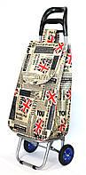 Хозяйственная сумка - тележка с колесами на подшипниках  British flag
