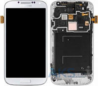 Дисплей (экран) для телефона Samsung Galaxy S4 I9505 + Touchscreen with frame Original White