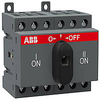 Реверсивный рубильник ABB OT25F3C 25A 3-полюсный без ручки управления