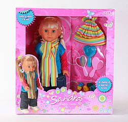"""Кукла Falca """"Сандра"""", аксессуары (резин., заколочки, расческа, зеркало) Испания, в кор. 40*43,5*12см"""