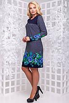 Женское платье с принтом цветов больших размеров (2866-2865-2864 svt), фото 3
