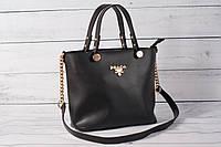 Женская сумка Prada (Прада) черного цвета