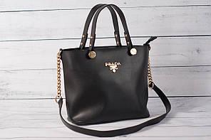 Женская сумка Prаdа (Прада) черного цвета ( код: IBG070B )