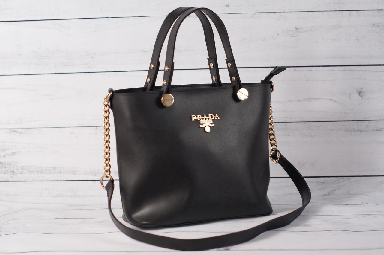 Женская сумка Prada (Прада) черного цвета  продажа, цена в Киеве ... 90875d7977b