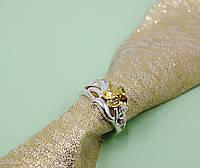 Кольцо с желтым цветком, фото 1