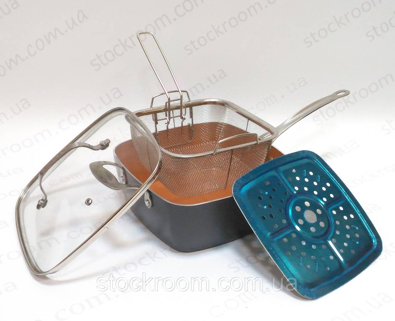 Сковорода-сотейник GOTHAM 3в1 многофункциональная