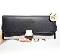 Женский кошелек-клатч повседневный, черный новая модель
