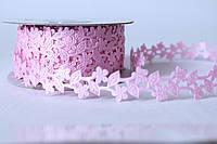 "Кружевная лента нежно-розового цвета ширина 2 см ""ромашка"""