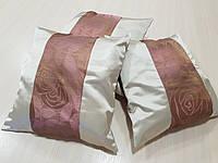 Комплект подушек с вставками Цветы, 3шт 40х40