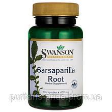 Экстракт Сарсапареля, Sarsaparilla Root, Swanson, 450 мг, 60 капсул