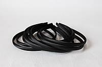 Обруч для волос (ободок) пластмассовый атласе 1 см черного цвета, фото 1
