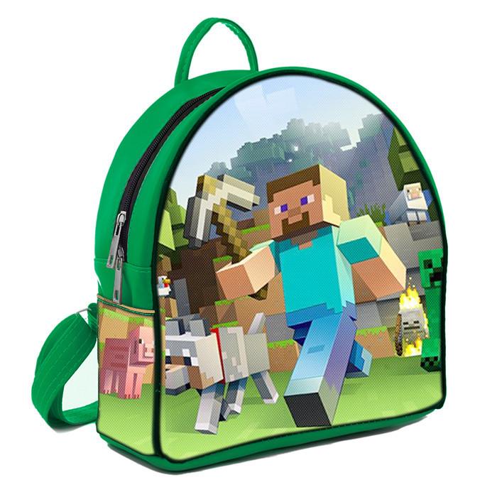 Рюкзак Moderika Arco зеленый с рисунком Майнкрафт (77984)