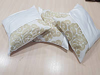 Комплект подушек беж и молочная коронки, 3шт 40х40