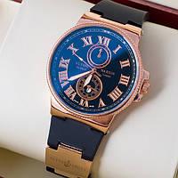 Кварцевые мужские наручные часы Ulysse Nardin Gold Black
