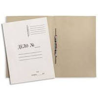 Скоросшиватель A4 (картонный) бумажный для документов, толщина 0,30мм уп50